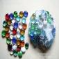 玻璃珠 彩色玻璃砂珠 室内装饰观赏专用玻璃扁珠